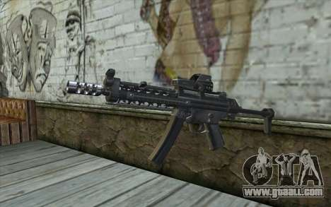 Silver MP5 for GTA San Andreas