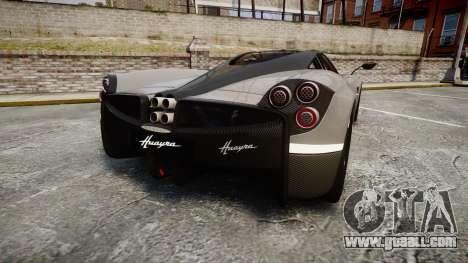 Pagani Huayra 2013 Carbon for GTA 4 back left view