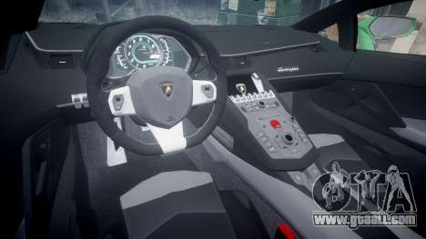 Lamborghini Aventador LP760-4 Camo Edition for GTA 4 back view