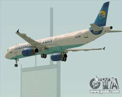 Airbus A321-200 Thomas Cook Airlines for GTA San Andreas bottom view
