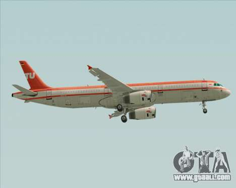 Airbus A321-200 LTU International for GTA San Andreas wheels