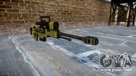 Large-caliber sniper rifle for GTA 4