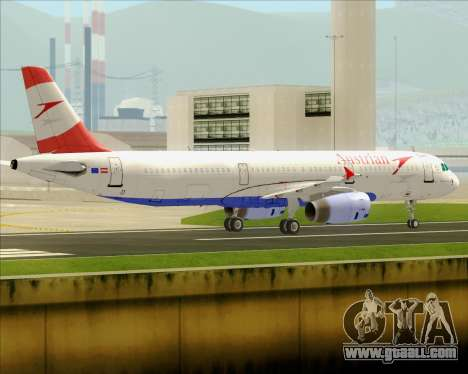 Airbus A321-200 Austrian Airlines for GTA San Andreas back view