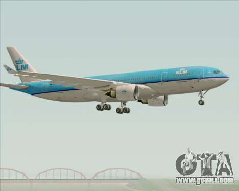 Airbus A330-200 KLM - Royal Dutch Airlines for GTA San Andreas right view