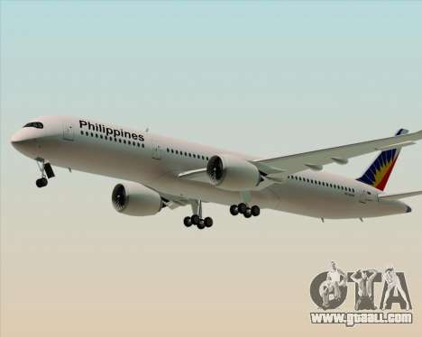 Airbus A350-900 Philippine Airlines for GTA San Andreas left view