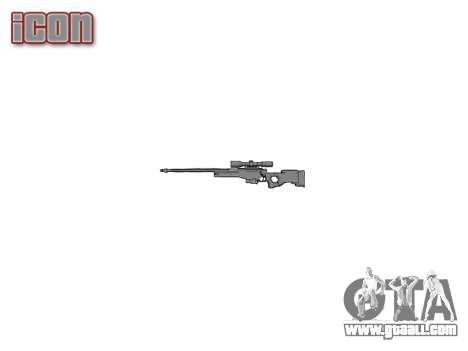 Sniper rifle L96A1 Magnum for GTA 4 third screenshot