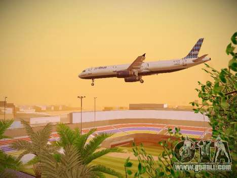 Airbus A321-232 jetBlue Airways for GTA San Andreas upper view