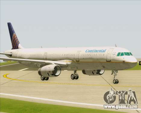 Airbus A321-200 Continental Airlines for GTA San Andreas inner view