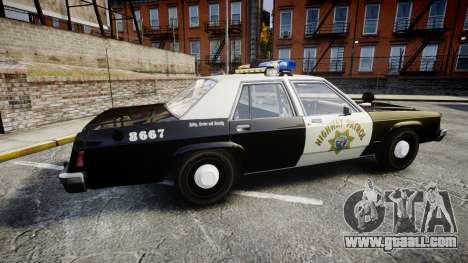 Ford LTD Crown Victoria 1987 Police CHP1 [ELS] for GTA 4 left view