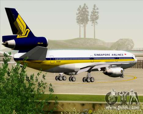 McDonnell Douglas DC-10-30 Singapore Airlines for GTA San Andreas wheels