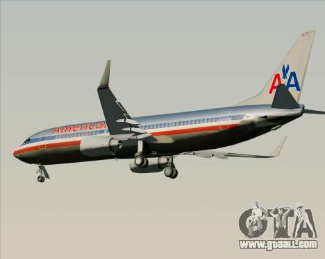 Boeing 737-800 American Airlines for GTA San Andreas back view