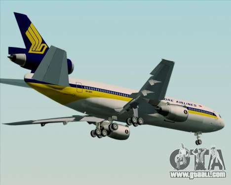 McDonnell Douglas DC-10-30 Singapore Airlines for GTA San Andreas inner view