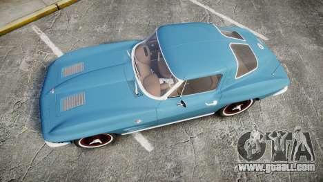 Chevrolet Corvette Stingray 1963 v2.0 for GTA 4 right view