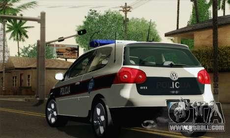 Volkswagen Golf V for GTA San Andreas left view