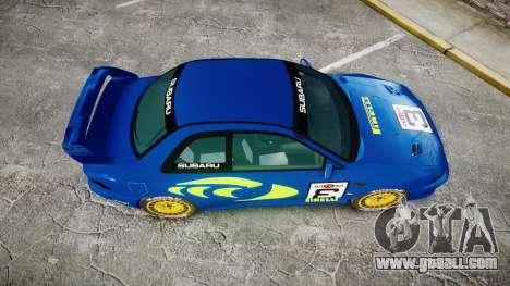 Subaru Impreza WRC 1998 World Rally v3.0 Green for GTA 4 right view