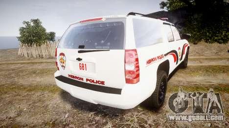 Chevrolet Suburban 2008 Hebron Police [ELS] Red for GTA 4 back left view