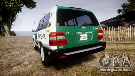 Toyota Land Cruiser Guardia Civil Cops [ELS] for GTA 4 back left view