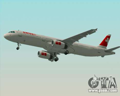 Airbus A321-200 Swiss International Air Lines for GTA San Andreas engine