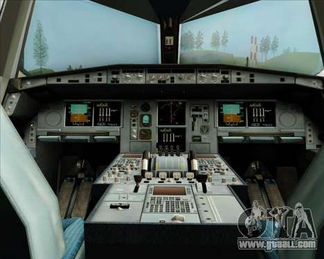 Airbus A380-800 Skymark Airlines for GTA San Andreas interior