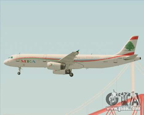Airbus A321-200 Middle East Airlines (MEA) for GTA San Andreas wheels
