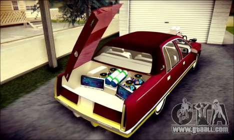 Cadillac Fleetwood 1993 Lowrider for GTA San Andreas interior