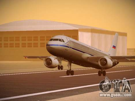 Airbus A320-214 Aeroflot Retrojet for GTA San Andreas left view