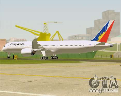 Airbus A350-900 Philippine Airlines for GTA San Andreas wheels