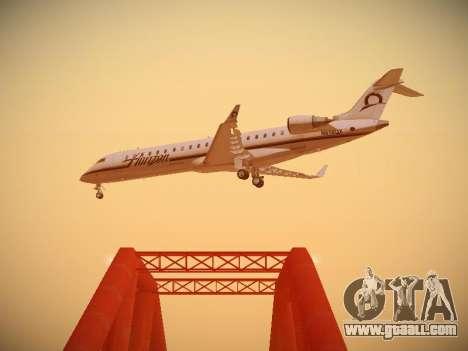 Bombardier CRJ-700 Horizon Air for GTA San Andreas inner view