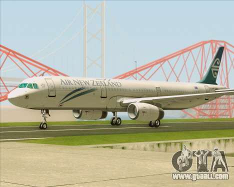 Airbus A321-200 Air New Zealand for GTA San Andreas back view