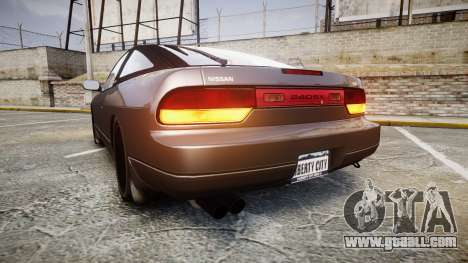 Nissan 240SX S13 for GTA 4 back left view