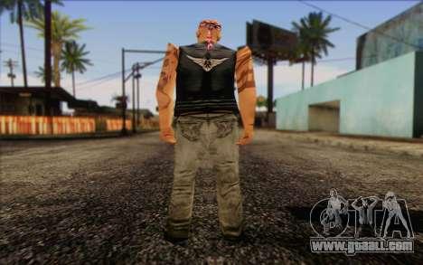 Biker from GTA Vice City Skin 1 for GTA San Andreas second screenshot