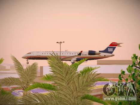 Bombardier CRJ-700 US Airways Express for GTA San Andreas inner view