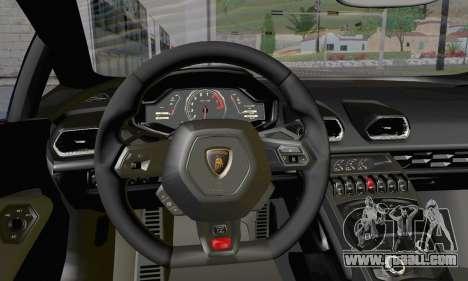 Lamborghini Huracan 2014 Type 2 for GTA San Andreas right view