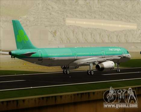 Airbus A321-200 Aer Lingus for GTA San Andreas right view