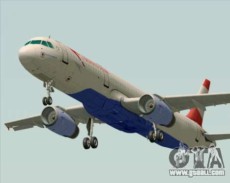 Airbus A321-200 Austrian Airlines for GTA San Andreas back left view