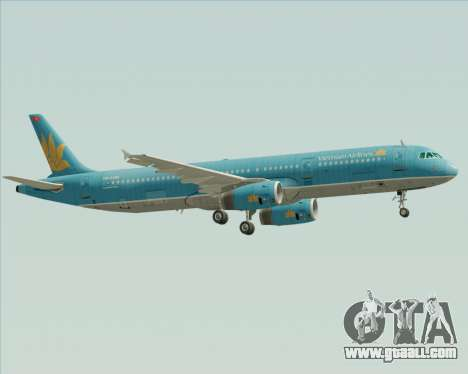 Airbus A321-200 Vietnam Airlines for GTA San Andreas right view