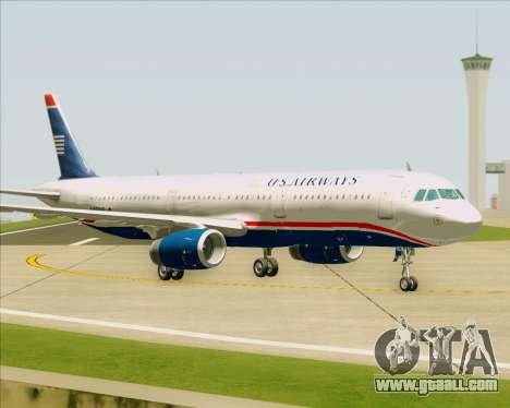 Airbus A321-200 US Airways for GTA San Andreas inner view