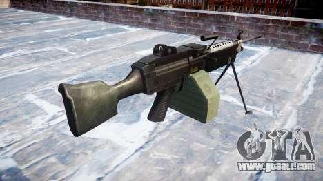 Light machine gun M249 SAW for GTA 4 second screenshot