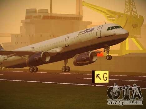 Airbus A321-232 jetBlue Whole Lotta Blue for GTA San Andreas left view
