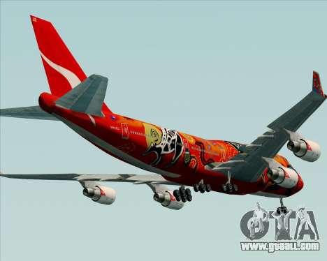Boeing 747-400ER Qantas (Wunala Dreaming) for GTA San Andreas bottom view