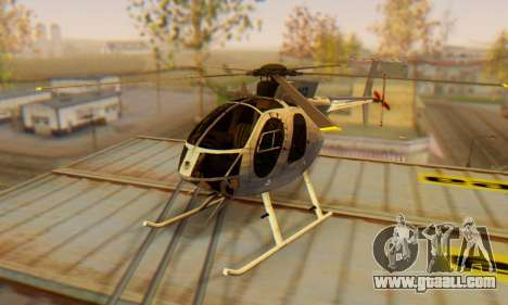 The MD500E helicopter v3 for GTA San Andreas
