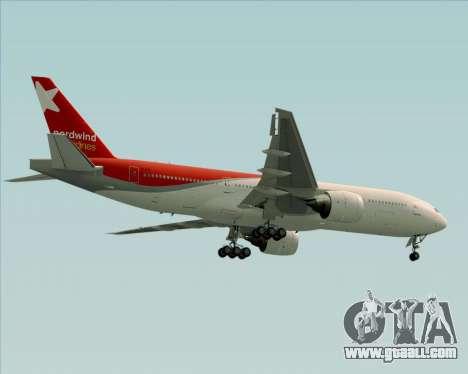 Boeing 777-21BER Nordwind Airlines for GTA San Andreas wheels