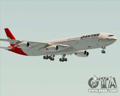 Airbus A340-300 Qantas for GTA San Andreas side view