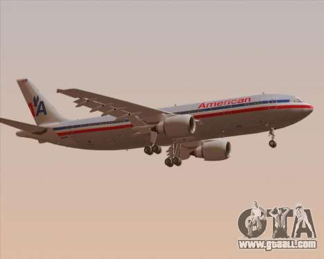 Airbus A300-600 American Airlines for GTA San Andreas right view