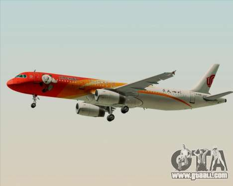 Airbus A321-200 Air China (Beautiful Sichuan) for GTA San Andreas right view