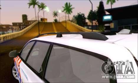 Volvo V70 LE Politie for GTA San Andreas back left view