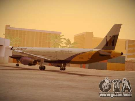 Airbus A321-232 Monarch Airlines for GTA San Andreas back left view