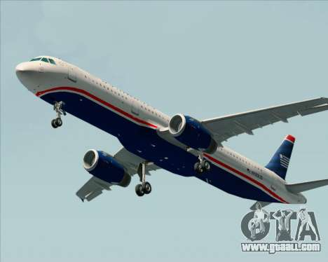Airbus A321-200 US Airways for GTA San Andreas left view