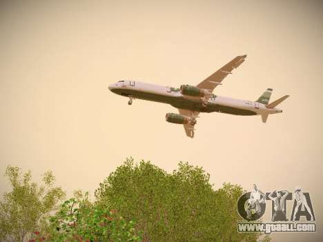 Airbus A321-232 jetBlue NYJets for GTA San Andreas engine