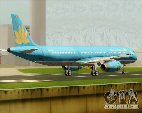 Airbus A321-200 Vietnam Airlines for GTA San Andreas back view